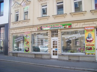 Bildinhalt: Obst- und Gemüseladen zieht in Georg-Schwarz-Straße 57 ein   Hier in der GSS 57  wird am 02.04. der neue Obst- und Gemüseladen eröffnet / Foto: Enrico Engelhardt