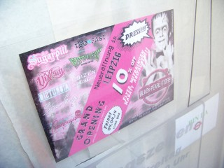 Bildinhalt: Black-Pearl-Store eröffnet am 04. April in der Georg-Schwarz-Straße 2 | Morgen wird mehr als das Ankündigungsschild am und im Laden zu finden sein / Foto: Enrico Engelhardt