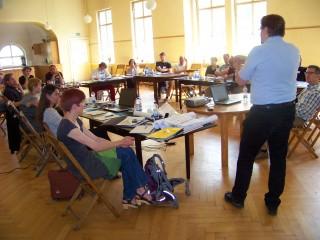 Bildinhalt: Workshop zur Neugestaltung der Georg-Schwarz-Straße vereint verschiedene Blickwinkel | Workshop zur Neugestaltung der GSS  am 26. 05. 2014 / Foto: Enrico Engelhardt