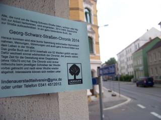 Bildinhalt: Neue ChronistInnen braucht die Straße  | ChronistInnen können sich beim Lindenauer Stadtteilverein melden / Foto: Enrico Engelhardt
