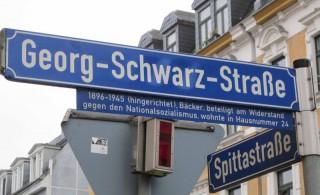 Bildinhalt: Straßennamen rund um die Georg-Schwarz-Straße |