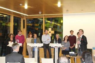 Gelingende Integration – Fakten, Hintergründe, Perspektiven | Staatsministerin Petra Köpping (3. von links) und Podiumsgäste