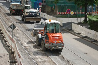 Bildinhalt: Georg-Schwarz-Straße wird immer mehr zur Großbaustelle | Foto: Enrico Engelhardt