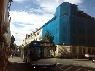 Bildinhalt: Baustellenreport auf Leipzig-Fernsehen | Schienenersatzverkehr für die Linie 7, Foto: Enrico Engelhardt