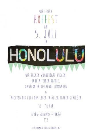 "Einladung zum Hoffest im ""Honolulu"", GSS 112,  am Sonntag |"