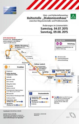 Bildinhalt: Schienenersatzverkehr auf der Linie 7 am Sonntag, den 9. August |