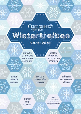 Bildinhalt: Erstes Wintertreiben auf der Georg-Schwarz-Straße am 28. November |