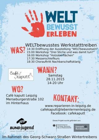 Wintertreiben # 19 - WELTbewusstes Werkstatttreiben im Café Kaputt | Café Kaputt