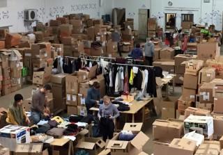 Bildinhalt: Sach- und Geldspenden für Geflüchtete und andere Bedüftige | Foto: Sachspendenzentrale Leipzig