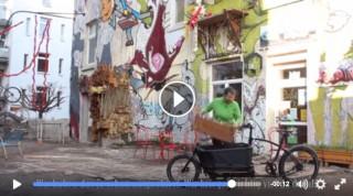 Bildinhalt: gemeinsam grün e.V. wünscht sich für den Saisonstart 2016 ein Transportrad |
