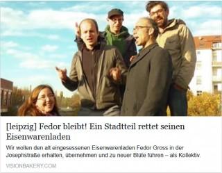 Bildinhalt: Spendensammlung für die freundliche Übernahme der Eisenwarenhandlung Gross in Lindenau |