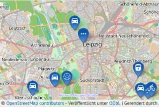 Online-Dialog zur Fortschreibung des Luftreinhalte- und Lärmaktionsplans für Leipzig | Kartengrundlage: OpenStreetMap