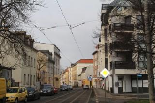 Bildinhalt: Vorschlag zur Errichtung einer weiteren Haltestelle zwischen Diakonissenhaus und Rathaus Leutzsch |