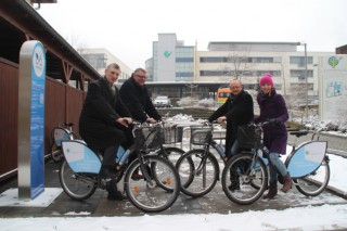 Bildinhalt: Mit dem Leihfahrrad zur Arbeit. Diako kooperiert mit Fahrradverleiher nextbike  |
