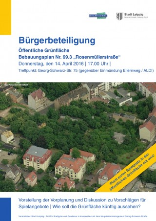 Informationsveranstaltung zur öffentlichen Grünfläche an der Pufendorfstr. am 14.4. |