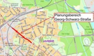 Bildinhalt: Planfeststellungsverfahren für das Vorhaben Verkehrsbaumaßnahme Georg-Schwarz-Straße |