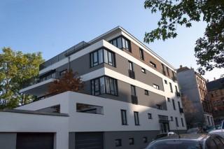Bildinhalt: Zwei neue Mehrfamilienhäuser in der Nachbarschaft der Magistrale | Bild: Ecobau GmbH