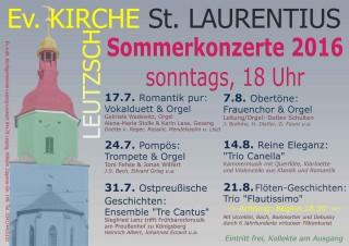 Leutzscher Sommerfest ab 17.07.2016 in St. Laurentius |