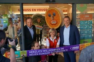 Bildinhalt: Eröffnung einer neuen Konsumfiliale in der Georg-Schwarz-Straße | Foto: S.Ruccius
