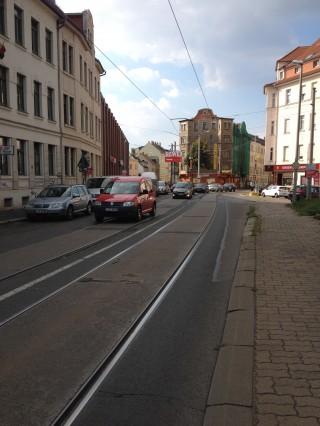 Bildinhalt: Aktueller Stand zu den Bauarbeiten hintere Georg-Schwarz-Straße |