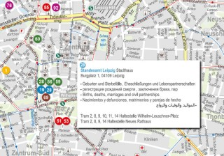 Willkommensstadtplan der Stadt Leipzig online | online