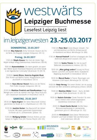 Westwärts! Lesungen entlang der Georg-Schwarz-Straße zur Buchmesse | Westwärts 2017