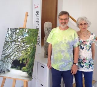 Bildinhalt: Das AtelierGalerieV. | Felizitas und Hans Christian Viering