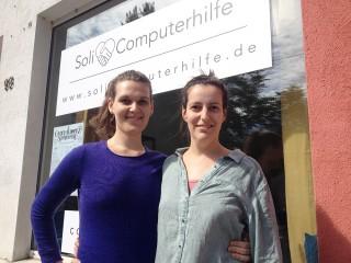 Bildinhalt: Soli-Computerhilfe mit sozialem und ökologischem Anspruch  | Emma Haskins (links) und Linda Meier