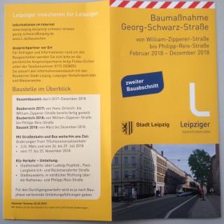 Bildinhalt: Zweiter Bauabschnitt auf der Georg-Schwarz-Straße beginnt |