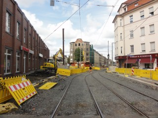 Bildinhalt: Neues von der Baustelle in der hinteren Georg-Schwarz-Straße |