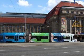 Bildinhalt: Demokratie in der Straßenbahn | Foto: Stadt Leipzig