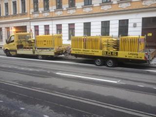 Bildinhalt: Einladung zur Eröffnung der Georg-Schwarz-Straße | Die Georg-Schwarz-Straße wird geräumt