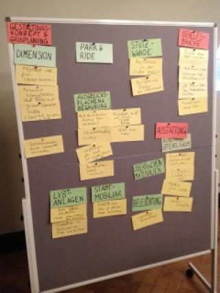 2. Beteiligungsworkshop Georg-Schwarz-Brücken | Themensammlung 1. Workshop