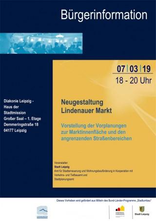 Bildinhalt: Bürgerinformation zur geplanten Neugestaltung des Lindenauer Marktes |