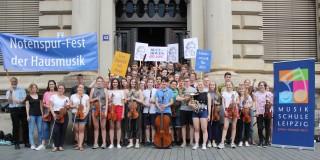 Notenspur-Fest der Hausmusik -Anmeldungen von Gastgebern und Musikern ab sofort möglich | Musikschule mach bei Notenspur mit, Bildrechte bei Notenspur Leipzig e.V.