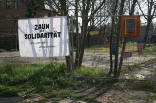 Zaun der Solidarität   Nachbarschaft Leutzsch