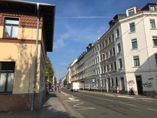 Bildinhalt: Tempo 30 in der Georg-Schwarz-Straße    Strecke künftige Tempo 30 vor Diako