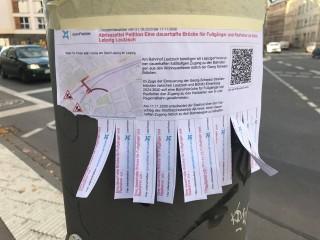 Petition für eine dauerhafte Fußgängerbrücke zwischen Leutzsch und Böhlitz- Ehrenberg  