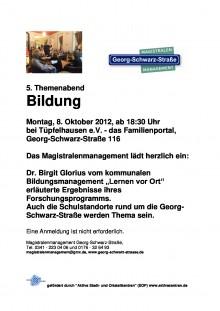 Bildinhalt: Themenabend Bildung - 08.10.2012